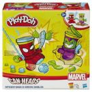 Play-Doh Can Heads B0744 Spider Man & Green Goblin HASBRO B0594