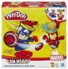 Play-Doh Can Heads B0745 Captain America Iron Man HASBRO B0594