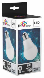 LED TB Energy E27 230V 10W Bialy neutralny