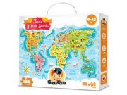 CZUCZU 6269 Puzzle Mapa Świata 6-12lat 168el. 98x68cm BRIGHT JUNIOR MEDIA