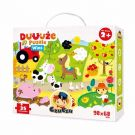 CZUCZU 6481 Puzzle Duuuża Wieś 35el. 98x68cm BRIGHT JUNIOR MEDIA