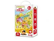CZUCZU 6177 Puzzle Mapa Polski 84el. 48x68 cm BRIGHT JUNIOR MEDIA
