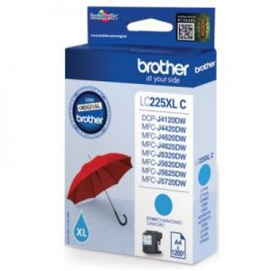 Brother LC-225XLC inkoust cyan, 1200 str.